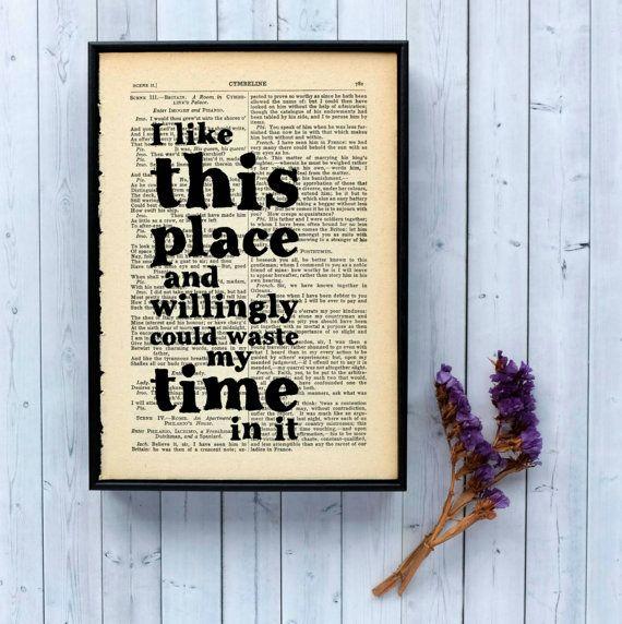 House Warming Gift Shakespeare Quote On Framed door BookishlyUK