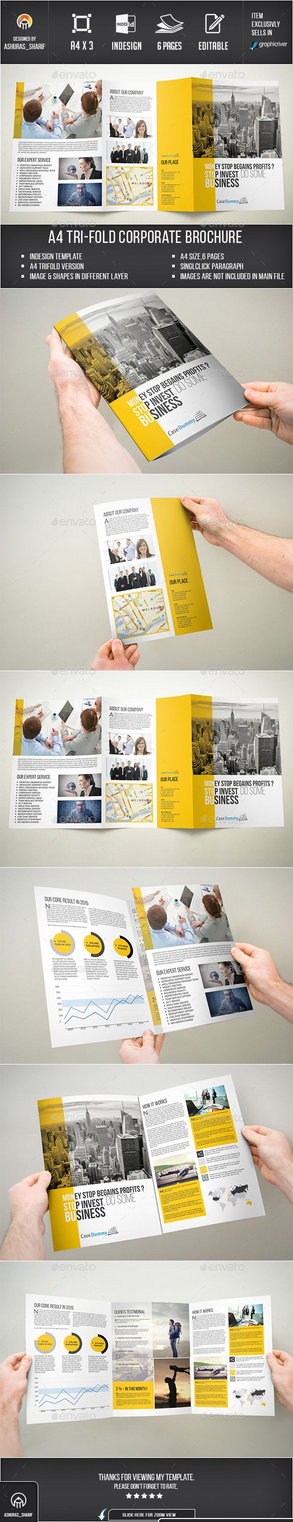 A4 Tri-fold Brochure Template #design Download: http://graphicriver.net/item/a4-trifold-brochure/12052915?ref=ksioks