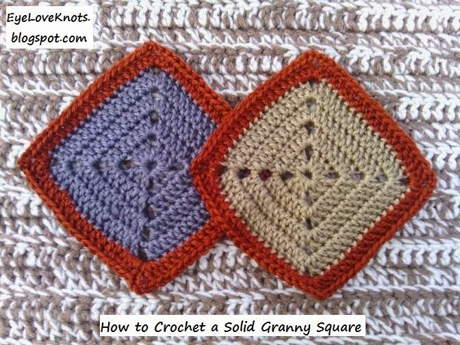 EyeLoveKnots: Crochet Solid Granny Square - Free Pattern - Yarn Bee Soft Secret Yarn Review; How to Crochet. How to Granny Square. How to Invisible Join in Crochet. How to Weave in Yarn Tails in Crochet. How to ReAttach Yarn in Crochet. Crochet Technique. Beginning Crochet. Beginner Crochet. Novice Crocheter. One Skein Project. Mushroom Color. Tan Color. Smoke Color. Gray Color. Terracotta Color. Copper Color.