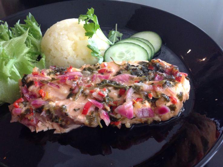 Salmon thai style