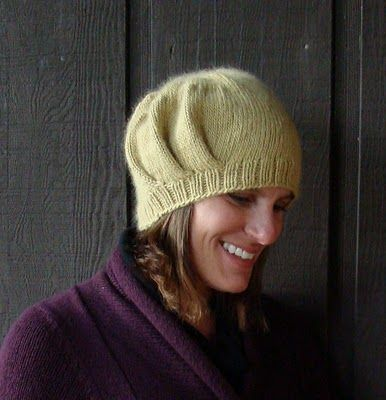 Love the look of this pleated hat, also the yarn looks scrumptious. @Susan B. Anderson