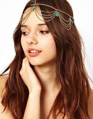Золото тон корона т камень цепь Hairband Head лента повязка на голову волосы кусок ну вечеринку купить на AliExpress