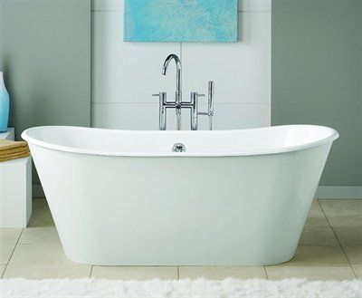 Cheviot 2155W Iris Freestanding Tub, Painted White - Fixture Universe