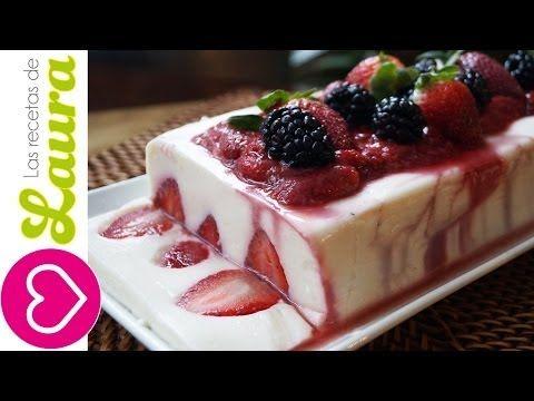 Gelatina de Yogurt con Salsa de Fresas - Yogurt Jello with Strawberry Jelly - YouTube