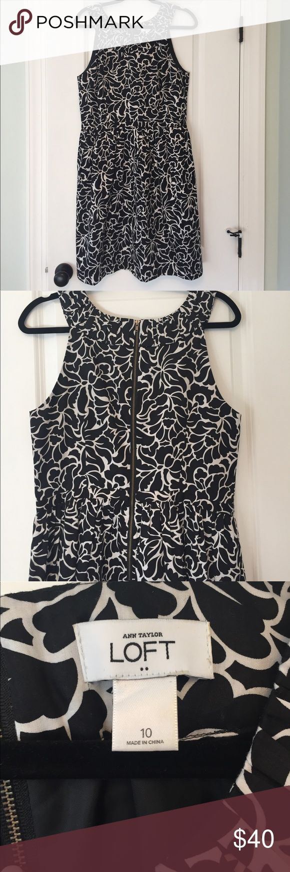Ann Taylor LOFT dress with pockets! Fully lined dress, flattering cut! Has pockets!! Perfect for a wedding! Only worn once! LOFT Dresses