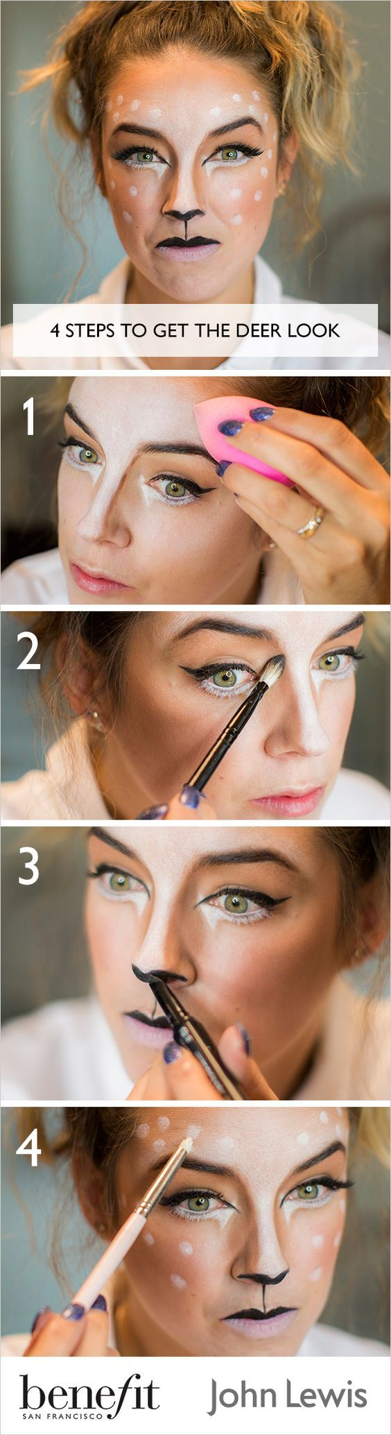 Lisa Potter-Dixon Head Make Up Artist for Benefit Cosmetics, shows us how to recreate a cute deer look this Halloween. Discover full instructions and product details. Beauty & Personal Care : makeup  http://amzn.to/2kWGq9s