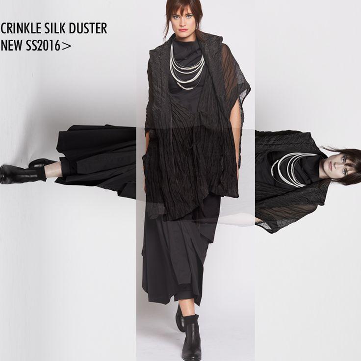 SS2016- Crinkle Silk Duster Nicola Waite