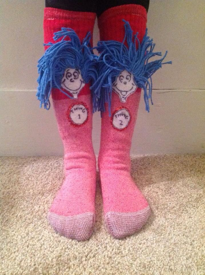 Dr. Seuss crazy socks day