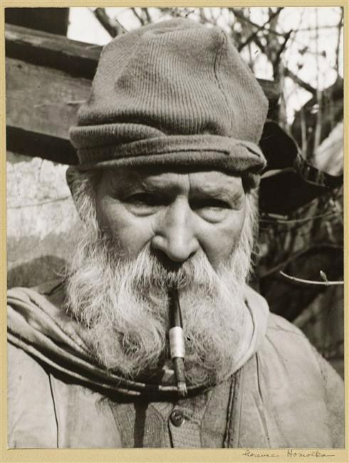 """Constantin Brancusi, 1948 -by Florence Homolka. """"Don't look for obscure formulas or mystery in my work. It is pure joy that I offer you. Look at my sculptures until you see them. Those closest to God have seen them."""""""