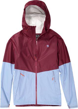 Mountain Hardwear Men's Exponent Rain Jacket Cote Du Rhone