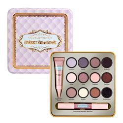 Models Prefer Sweet Shadows Cosmetic Tin $15. Contains 12 x Eyeshadow shades, a double-ended Mascara / Brow Gel and Eyeshadow Primer, all in an embossed keepsake tin. #ModelsPrefer is exclusive to Priceline.