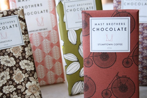 Mast Brothers chocolate packaging