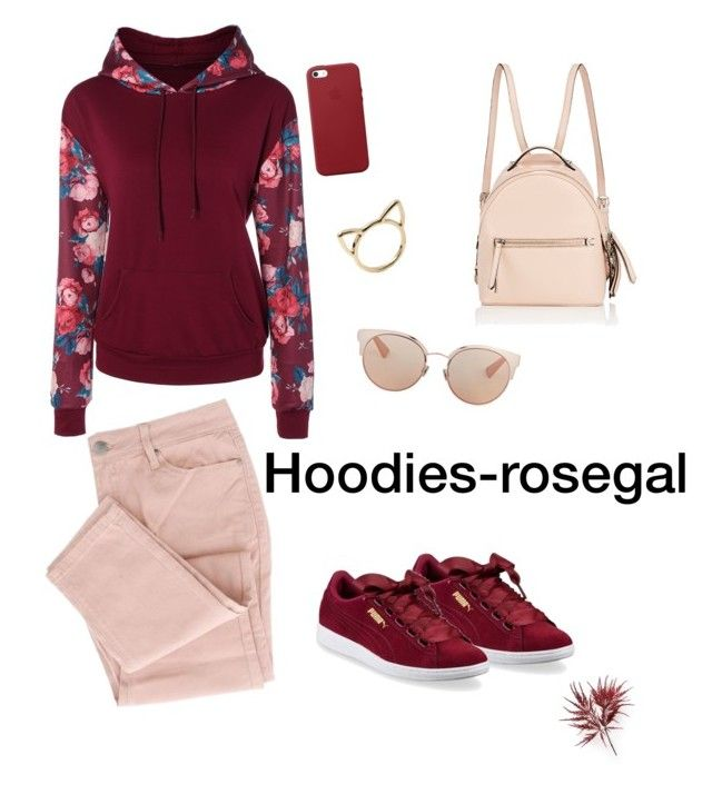 """""""Hoodies-Rosegal"""" by dorothysmile ❤ liked on Polyvore featuring Puma, Fendi, Apple and Christian Dior"""