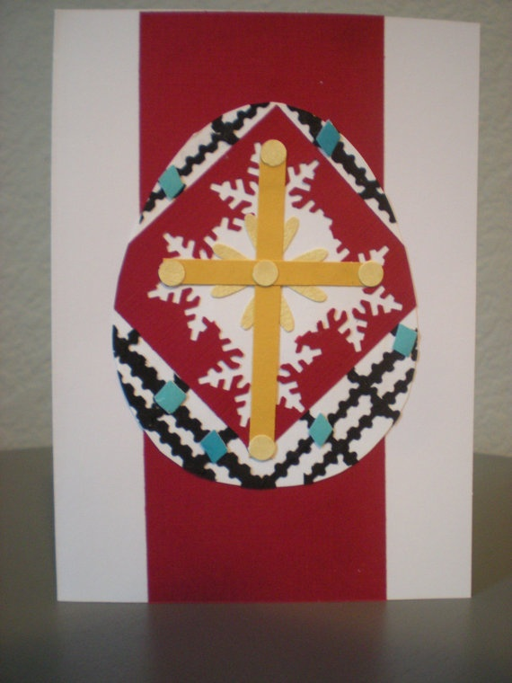 Easier that actual pysanky--would make a lovely Pascha Card!