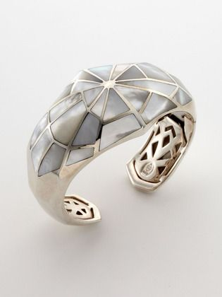 stephen webster mother of pearl cuff - how about as a door handle design?!