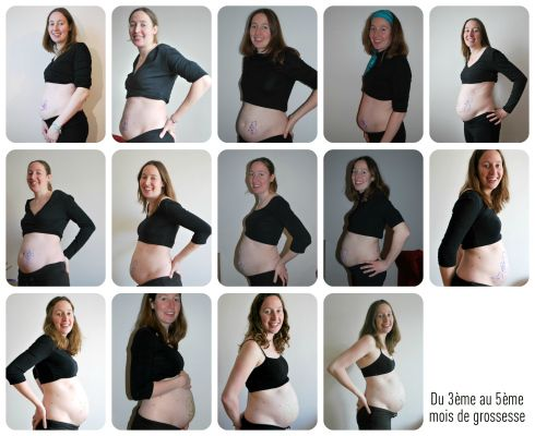 Taille du ventre grossesse, semaines après semaines ventre 3ème 4ème 5ème mois de grossesse 11SA à 24SA