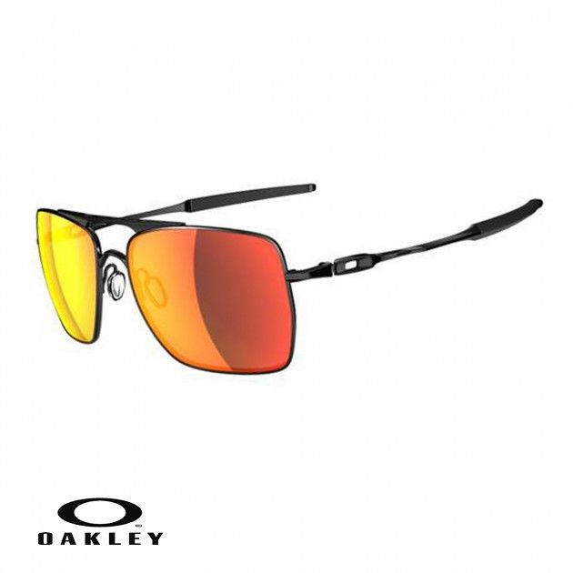Men\u0027s Oakley Deviation Sunglasses - Polished Black/Ruby Iridium