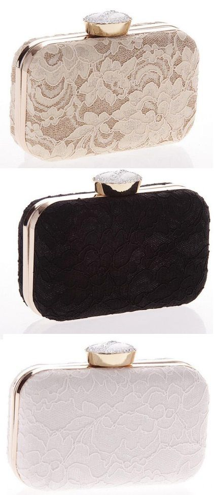 Elegant clutch bag with a floral print. This bag is made with satin. Perfect for a night party! Click for more details.