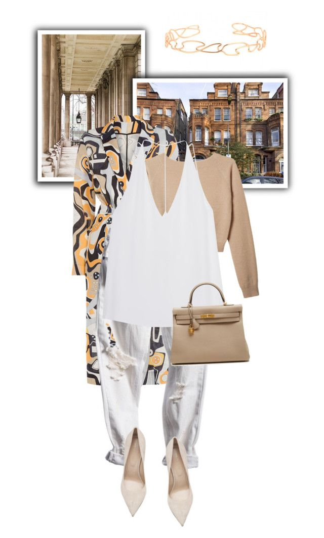 """""""City"""" by miica-olavarria ❤ liked on Polyvore featuring MSGM, Organic by John Patrick, Cushnie Et Ochs, Sergio Rossi, Hermès and Repossi"""