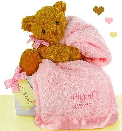 417 best blankets images on pinterest baby blankets baby shower bear essentials gift set pretty in pink personalized baby negle Choice Image