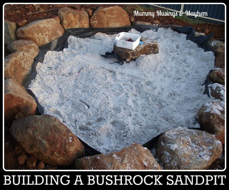 How to build a natural bushrock sandpit for toddlers!