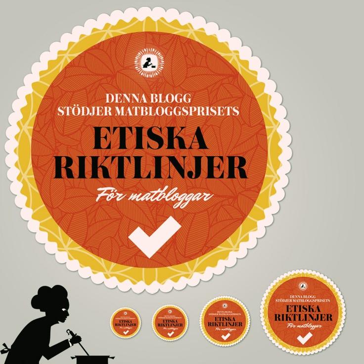 Etiska riktlinjer Matbloggspriset   Ethical guidelines Food Blog Awards. #logo #foodblog #matbloggar #vector #retro