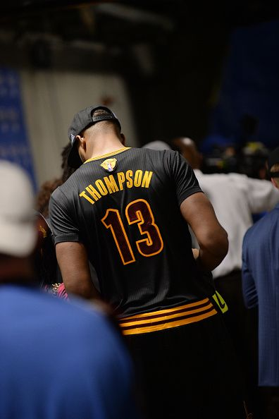 Tristan Thompson of the Cleveland Cavaliers is seen after defeating the Golden State Warriors in Game Seven of the 2016 NBA Finals on June 19 2016 at...