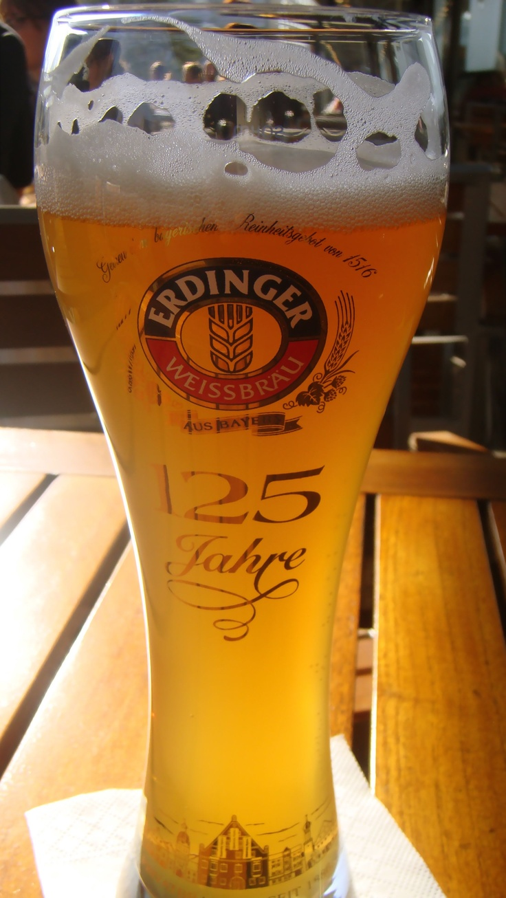 I love the wheat (Weiss beer) in Germany!