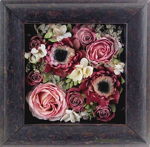 pav floral art keepsake 10 x10 size 10 x10 x3 moulding 420661 espresso scroll. Black Bedroom Furniture Sets. Home Design Ideas