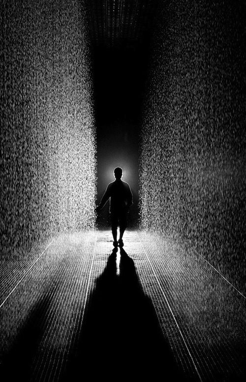 The Rain Room at the MOMA | Allows visitors to pass through a down pour without getting wet.