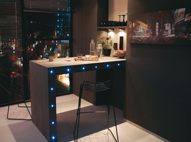 15 best meuble en palette images on pinterest - Eclairage cuisine sous meuble ...