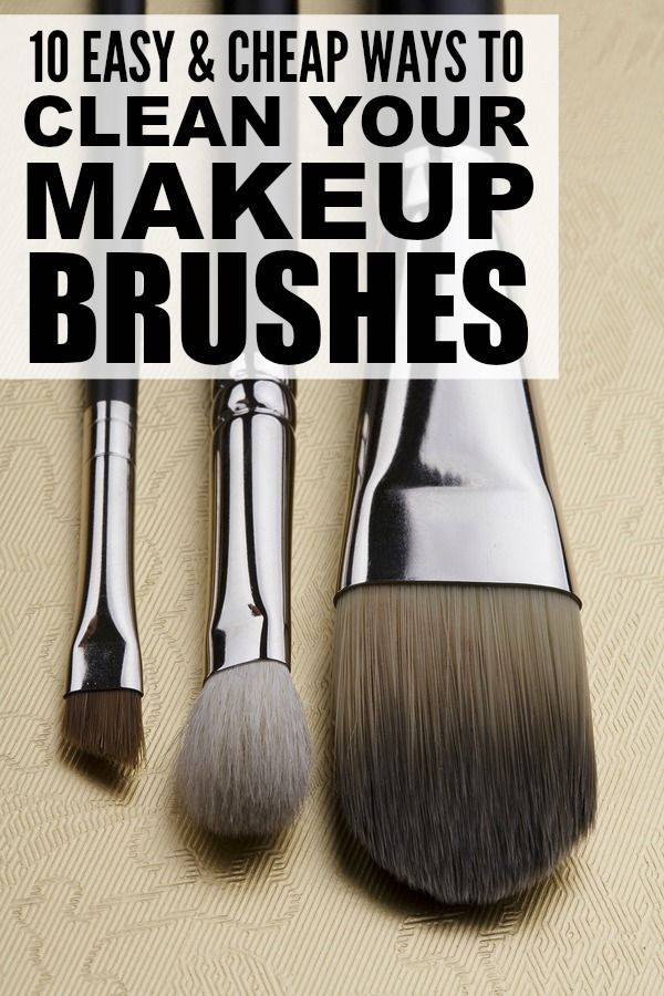 Best 25 Clean Makeup Brushes Ideas On Pinterest Clean