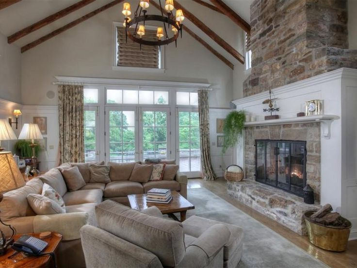 Gorgeous Fireplace Living Rooms Neutral Colors