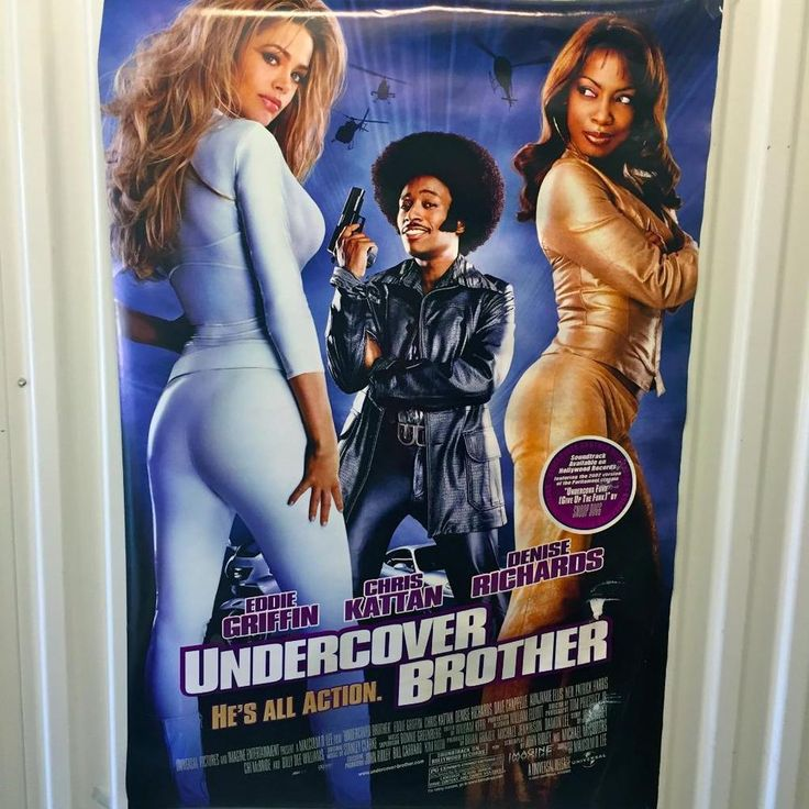 Undercover Brother`DENISE RICHARDS ORIGINAL MOVIE THEATRE POSTER~27X40~VERY GOOD