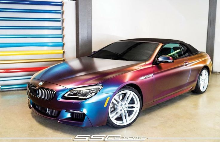 Mindblowing #BMW 6 series convertible #colorshift wrap. Brilliant work by @ss_customs #MakeitStick #PaintisDead