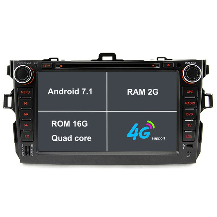 For Toyota Corolla 2007~2011 Android7 1 GPS Navi Car Stereo DVD Player Radio 4G