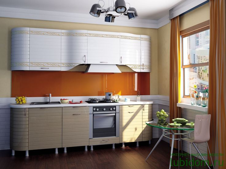#Кухни «Анастасия» (тип 3, «Капучино», «Белый глянец» с прямой фрезеровкой и рисунком) по лучшим ценам от производителя | Серии модульной мебели для кухни| Купить кухню и комплектующие | Каталог мебели от производителя «Любимый Дом» - lubidom.ru #lubidom