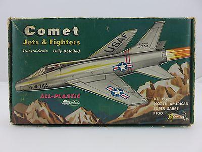 Comet NORTH AMERICAN SUPER SABRE F100 Scale Plastic Model Kit UNBUILT Vintage