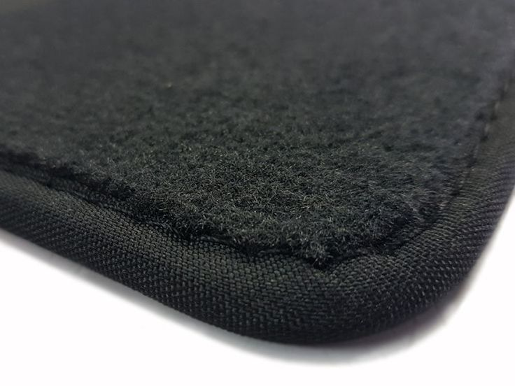 Kofferraummatte Fußmatten für Mercedes C Klasse C123 Schwarz Velours Elegant