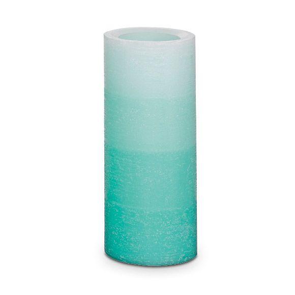 Häivähdys sinistä LED-pilarikynttilä 7x17 cm