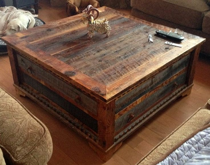 Reclaimed Wood Trunk Coffee Table Pictures Pinterest