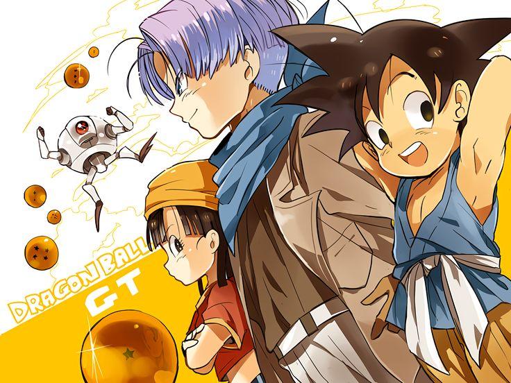 Anime Dragon Ball GT  Dragon Ball Giru (Dragon Ball) Pan (Dragon Ball) Trunks (Dragon Ball) Goku Wallpaper