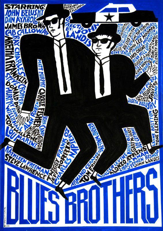 #polishdesign #movieposter #bluesbrothers