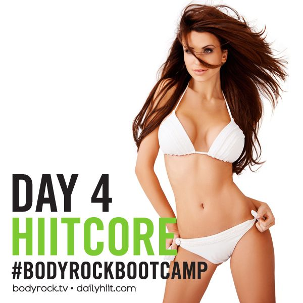 Are you ready for Hiit Core? Click here for the full breakdown: http://www.bodyrock.tv/2014/03/27/bodyrock-bootcamp-day-4