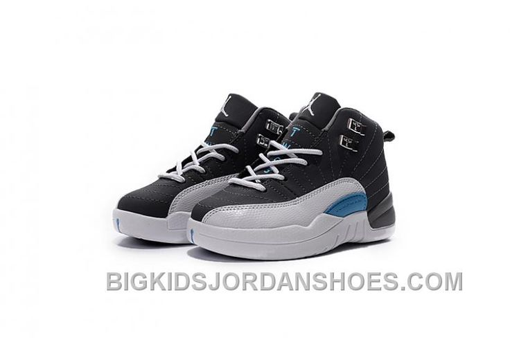 http://www.bigkidsjordanshoes.com/new-jordan-12-color-black-and-white-blue-for-kids-online.html NEW JORDAN 12 COLOR BLACK AND WHITE BLUE FOR KIDS ONLINE Only $82.40 , Free Shipping!