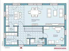 Grundriss EG   Das würde auf jeden Fall funktionieren. Fehlt nur der Kamin im Wohnzimmer.