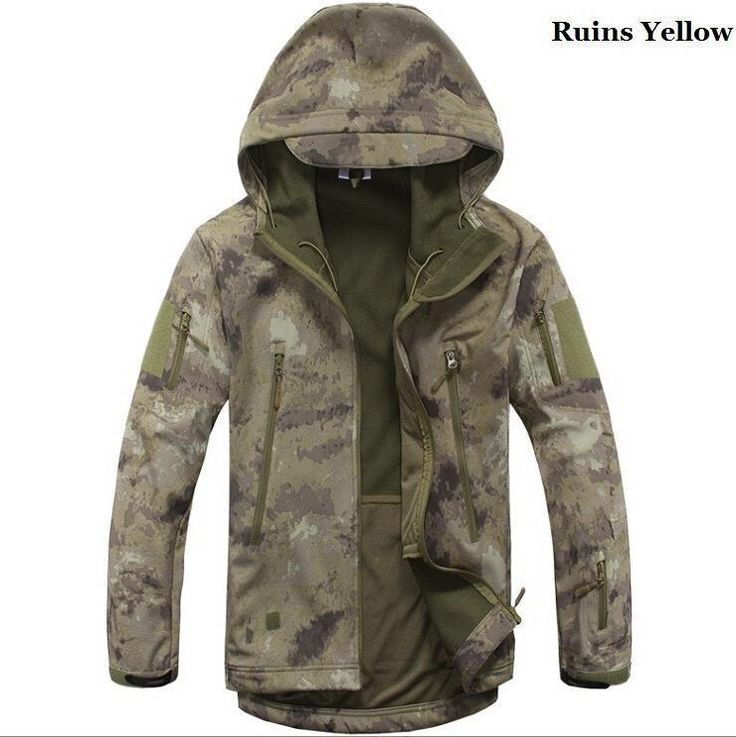 Men Tactical Jacket Hard Shell Sport Outdoor Military Waterproof Windproof Coat