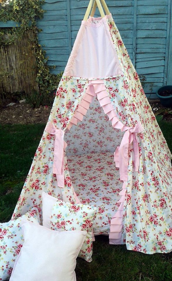 Floral Teepee by LillianaDesignsUK on Etsy