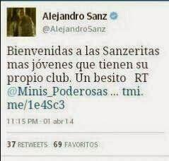 Alejandro Sanz :         Alejandro Sanz via twitter  Grac...