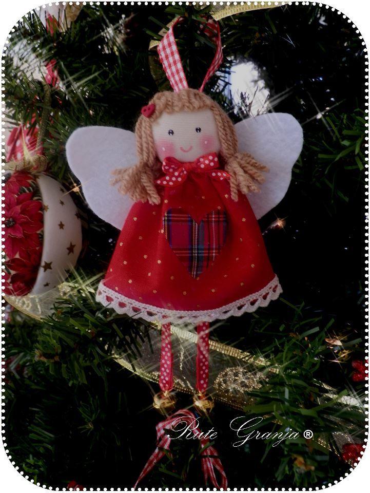Fabric angel decoration